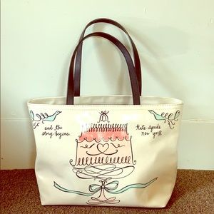 """Kate Spade ♠️ """"and the story begins"""" Tote"""